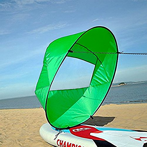 VGEBY Downwind Paddle,Kayak Wind Sail Paddle 42 pollici Kayak Canoa Accessori Compatto e Portatile ( Colore : Verde )