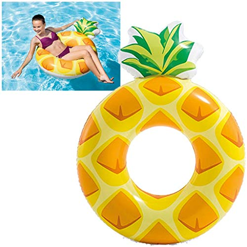 Intex 56266 - Salvagente Ananas, Multicolore, 117 x 86 cm