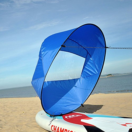 Huya Force 42 pollici 106cm Downwind Kayak Vela Remo, Canoa Kit Sail Immediato - installazione facile &implementare velocemente & portatile & compatto (Blu)