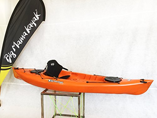 Big Mama Kayak PRIVAT CANOA DA 295 CM + 2 GAVONI + 1 PAGAIA + 1 SEGGIOLINO (FULL PACK) MADE IN ITALY (ARANCIONE)